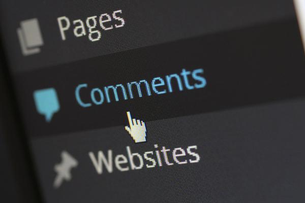 Wordpress blog comments
